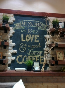 Chalkboard calligraphy at Yolk Cafe PH